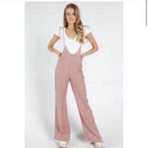 Light pink Overalls Jumpsuit
